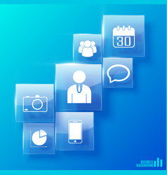 modern business icons set vector image