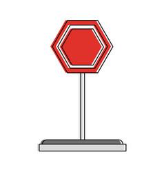 road sign symbol vector image