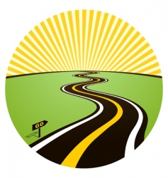 road to solar horizon vector image