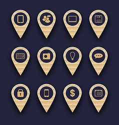 Set business pictogram icons for design your vector image