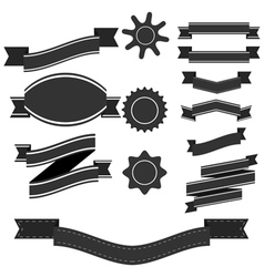 Set of retro vintage ribbons vector image