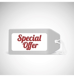 Blank price tag isolated on white with text vector image