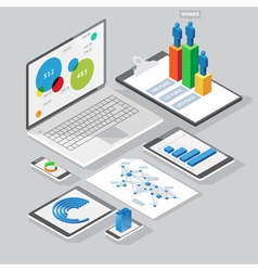 computer infographics design elements vector image vector image