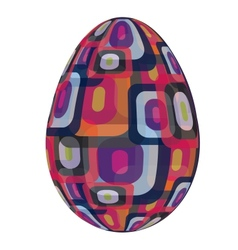 fine painted egg designed for Easter vector image vector image