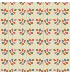 Floral seamless pattern with leaves vector image