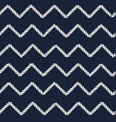marine rope line seamless pattern vector image