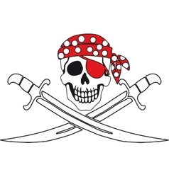 Pirate symbol Jolly Roger vector image vector image