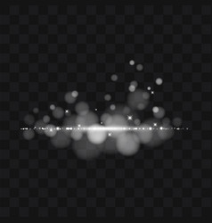 white glitter trail particles background effect vector image vector image