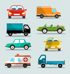cars set car icons vector image vector image