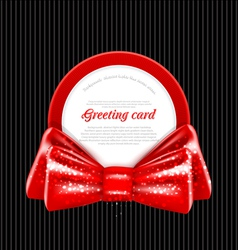 congratulation red background vector image vector image