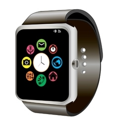 Smart watch and wifi vector image