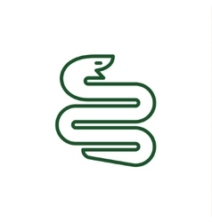 Snake with a linear trending flat style logo vector image