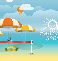 Summer seaside vacation Vacation design template vector image vector image