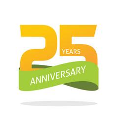 25 years anniversary celebrating logo icon vector