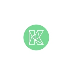 Abstract letter K logo design template Structure vector
