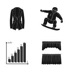 Achievements sports and other web icon in black vector