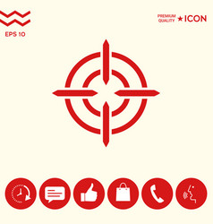 aim icon symbol vector image