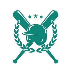 Baseball championship emblem vector image