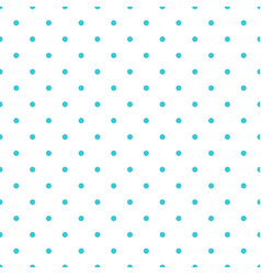 blue seamless pattern background polka dot vector image