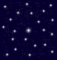 blue sky with stars background vector image