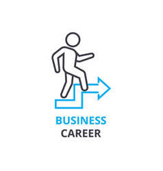 business career concept outline icon linear vector image