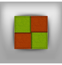 business four squares vector image