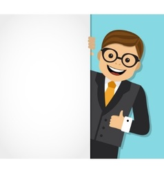 businessman and background with space for text vector image