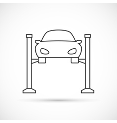 Car lifting outline icon vector image