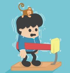 Cartoon exercisesMachine weight vector image vector image