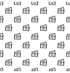 cinema ticket pattern seamless vector image