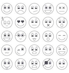 collection emoticon icons abstract emoji vector image