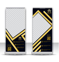 corporate roll up banner design vector image
