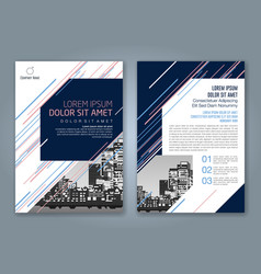 cover annual report 921 vector image