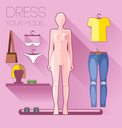 dummy clothes set vector image