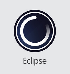 Eclipse cryptocurrency - coin symbol vector