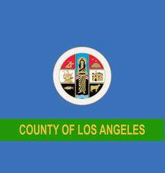 Flag of los angeles county california usa vector