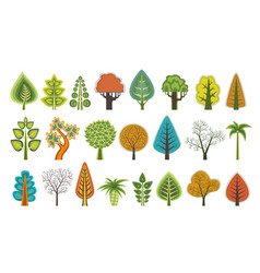 Flat silhouettes of trees vector