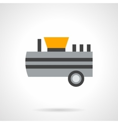 Flour tank truck flat color icon vector