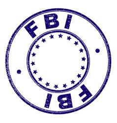 Grunge textured fbi round stamp seal vector