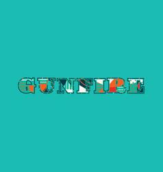 Gunfire concept word art vector