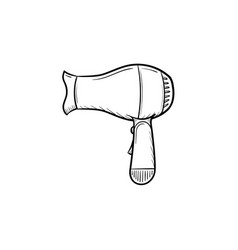 hair dryer hand drawn sketch icon vector image