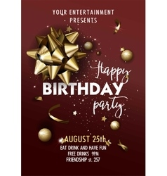 Happy birthday invitation poster template vector
