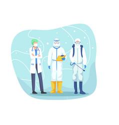 health professional team vector image