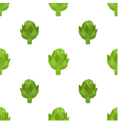Healthy artichoke seamless patterngreen vegetable vector