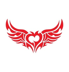 Heart tattoo vector image
