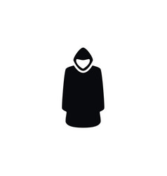 isolated hood icon cloak element can be vector image