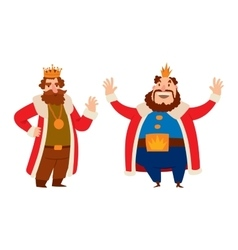King cartoon character vector