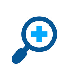 magnifying glass and plus symbol magnify glass vector image