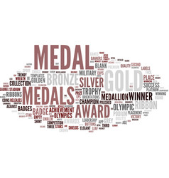 Medal word cloud concept vector