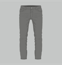 mens black jeans vector image